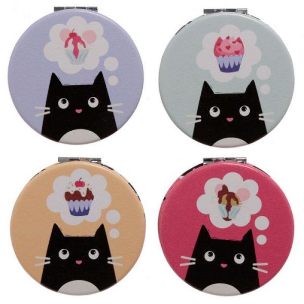 Mačka Feline Fine Koženkové kompaktné zrkadielko 1 - pre milovníkov mačiek