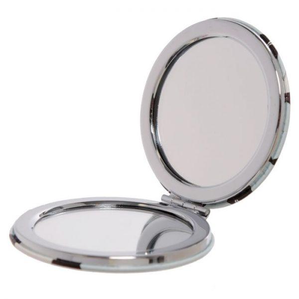 Feline Fine Cat Koženkové kompaktné zrkadlo - fialové 2 - pre milovníkov mačiek