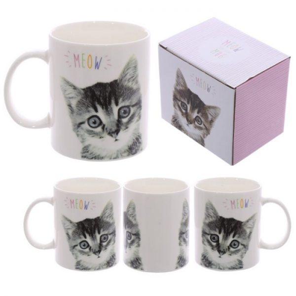 MEOW Cute Kitten Porcelánový hrnček 1 - pre milovníkov mačiek