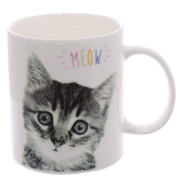 MEOW Cute Kitten Porcelánový hrnček 3 - pre milovníkov mačiek
