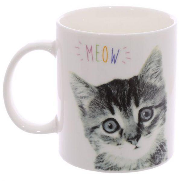 MEOW Cute Kitten Porcelánový hrnček 6 - pre milovníkov mačiek