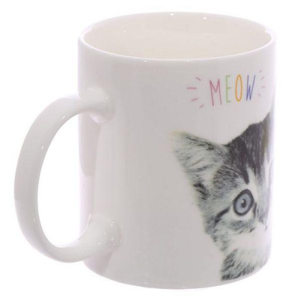 MEOW Cute Kitten Porcelánový hrnček 2 - pre milovníkov mačiek