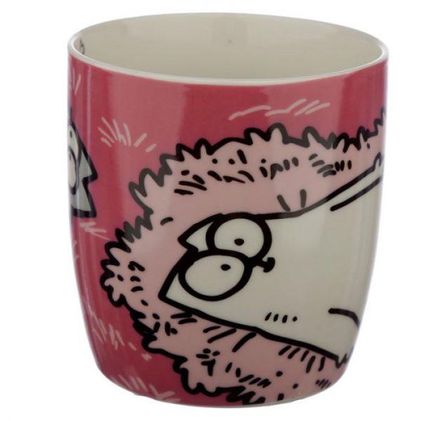 Ružový Simon's Cat Porcelánový hrnček 2 - pre milovníkov mačiek