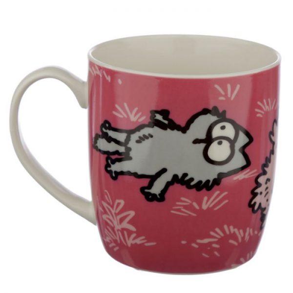 Ružový Simon's Cat Porcelánový hrnček 4 - pre milovníkov mačiek