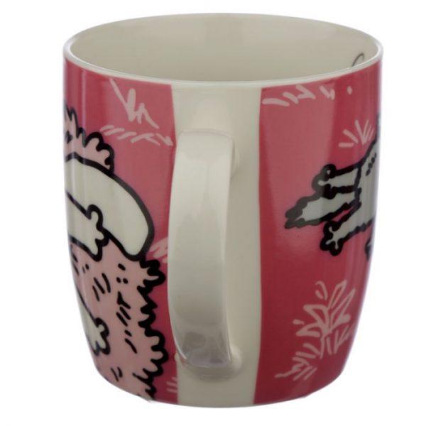 Ružový Simon's Cat Porcelánový hrnček 3 - pre milovníkov mačiek