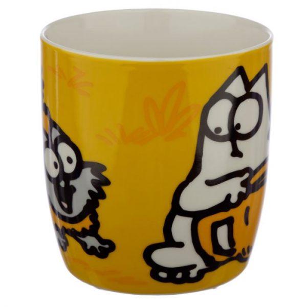 Oranžový Simon's Cat Porcelánový hrnček 3 - pre milovníkov mačiek