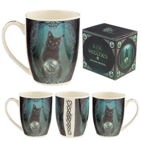 Lisa Parker Rise of the Witches Cat Porcelánový hrnček 1 - pre milovníkov mačiek
