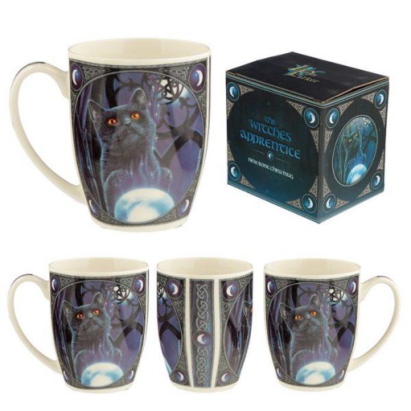 Porcelánový hrnček Čarodejnícky učeň, dizajn Lisa Parker 1 - pre milovníkov mačiek