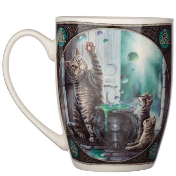 Lisa Parker Hubble Bubble Mačka a mačiatka Porcelánový hrnček 3 - pre milovníkov mačiek