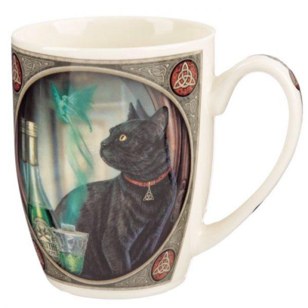 Lisa Parker Absinth a mačka Porcelánový hrnček 1 - pre milovníkov mačiek