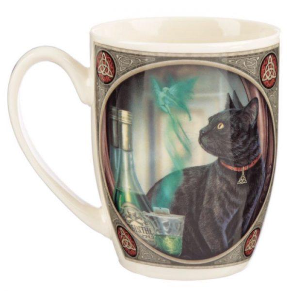 Lisa Parker Absinth a mačka Porcelánový hrnček 3 - pre milovníkov mačiek