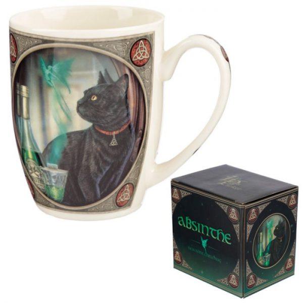 Lisa Parker Absinth a mačka Porcelánový hrnček 6 - pre milovníkov mačiek