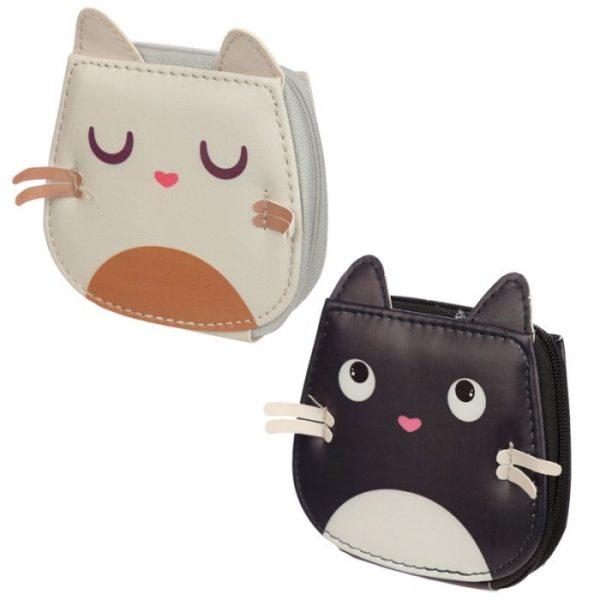 Mini päťdielny manikúrový set v púzdre s motívom mačičky Feline Fine 1 - pre milovníkov mačiek