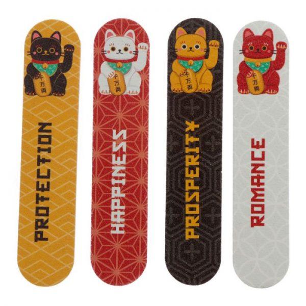 Maneki Neko - mačka šťastia Set 4 pilníkov na nechty 2 - pre milovníkov mačiek