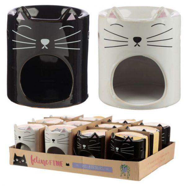 Feline Fine Ceramic Cat Head Olejová lampa 5 - pre milovníkov mačiek