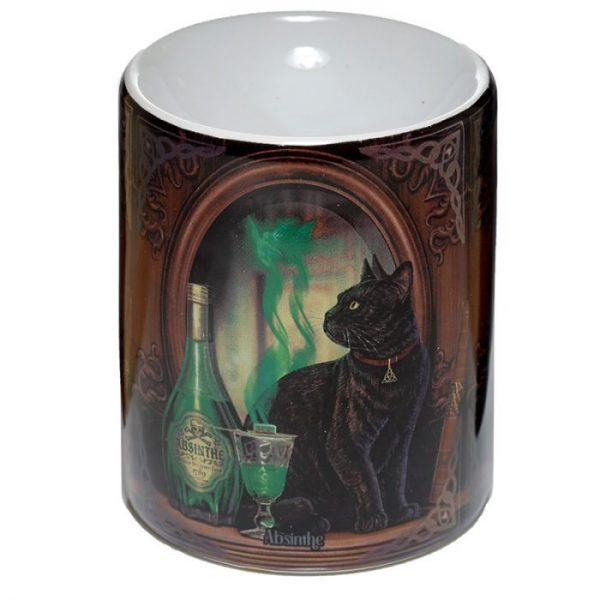 Lisa Parker Ceramic Absinth a mačka Olejová lampa 1 - pre milovníkov mačiek