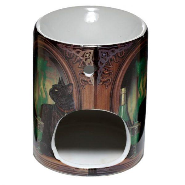Lisa Parker Ceramic Absinth a mačka Olejová lampa 3 - pre milovníkov mačiek