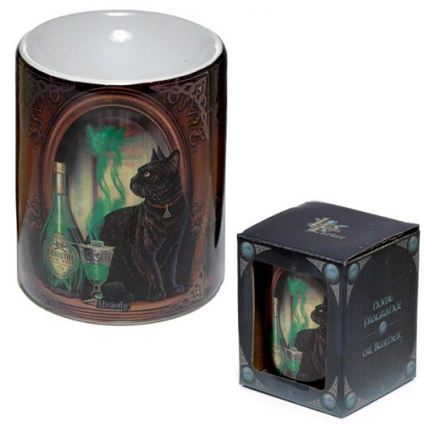Lisa Parker Ceramic Absinth a mačka Olejová lampa 2 - pre milovníkov mačiek