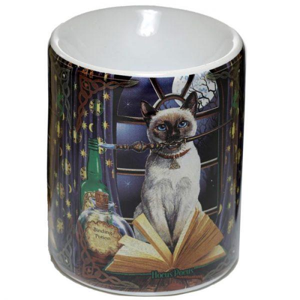 Lisa Parker Keramická aromalampa s motívom mačičky Hocus pocus 1 - pre milovníkov mačiek