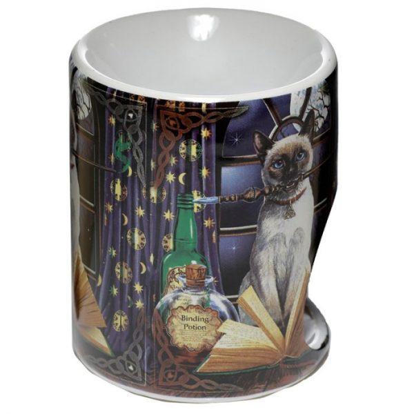 Lisa Parker Keramická aromalampa s motívom mačičky Hocus pocus 3 - pre milovníkov mačiek