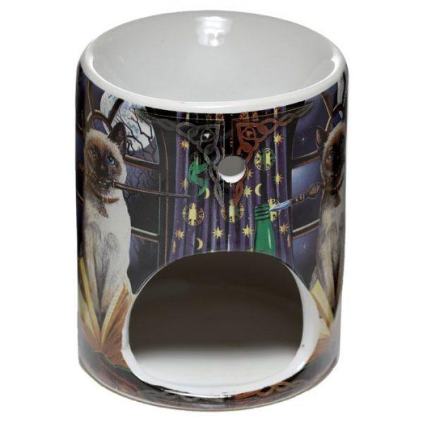 Lisa Parker Keramická aromalampa s motívom mačičky Hocus pocus 4 - pre milovníkov mačiek