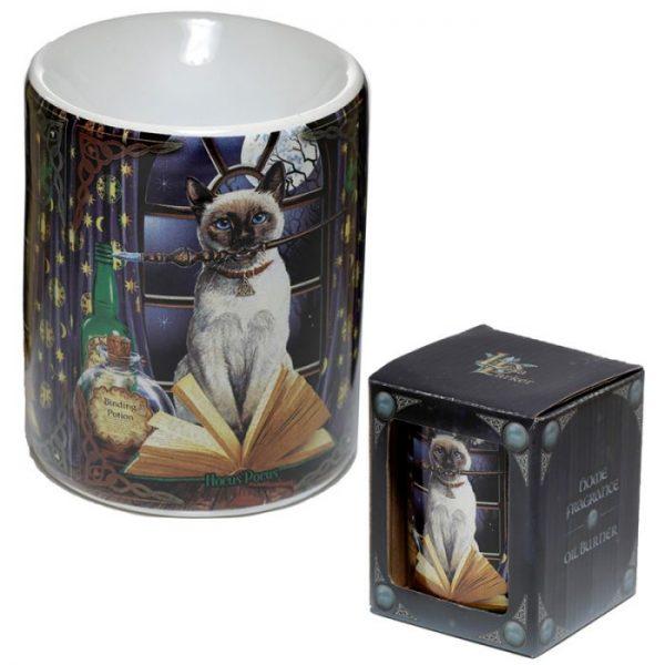 Lisa Parker Keramická aromalampa s motívom mačičky Hocus pocus 2 - pre milovníkov mačiek