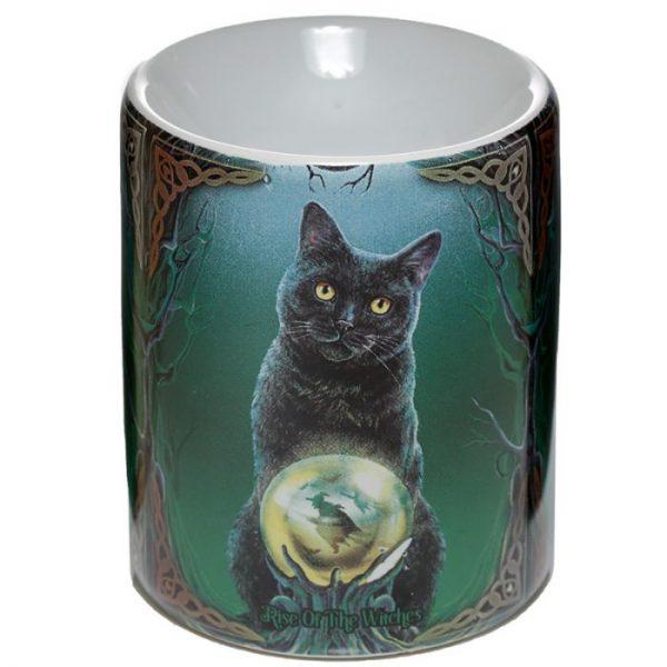 Keramická aromalampa Magická mačka - dizajn Lisa Parker 1 - pre milovníkov mačiek