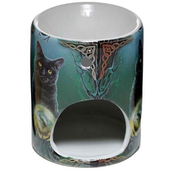 Keramická aromalampa Magická mačka - dizajn Lisa Parker 2 - pre milovníkov mačiek