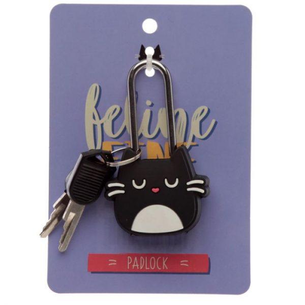Mačka Feline Fine Travel, Mini visiaci zámok na skrinky a batožinu 1 - pre milovníkov mačiek