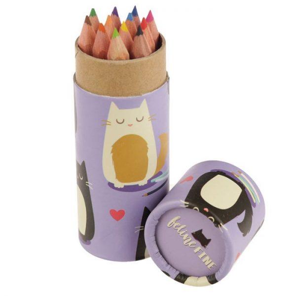 Mačka Feline Fine pastelky v puzdre 8 - pre milovníkov mačiek