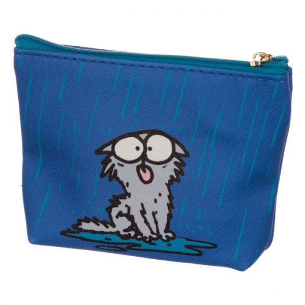 Peňaženka na mince Simon´s cat modrá 3 - pre milovníkov mačiek