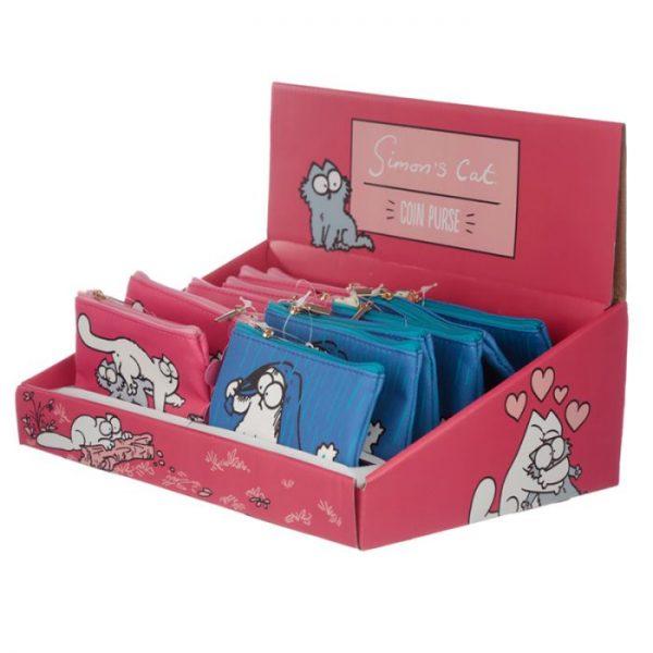 Peňaženka na mince Simon´s cat modrá 2 - pre milovníkov mačiek