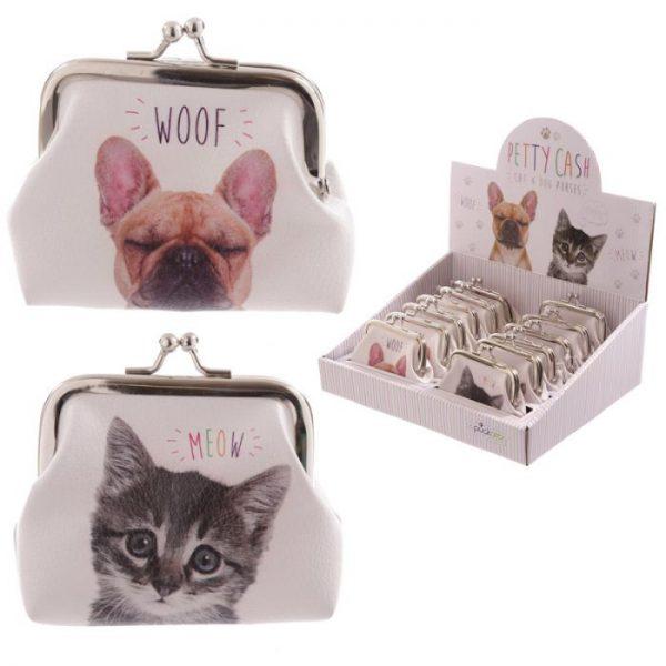 Mačka a pes MEOW WOOF Tic Tac Peňaženka 1 - pre milovníkov mačiek