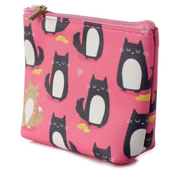 Peňaženka s mačičkami Feline Fine rúžová 4 - pre milovníkov mačiek