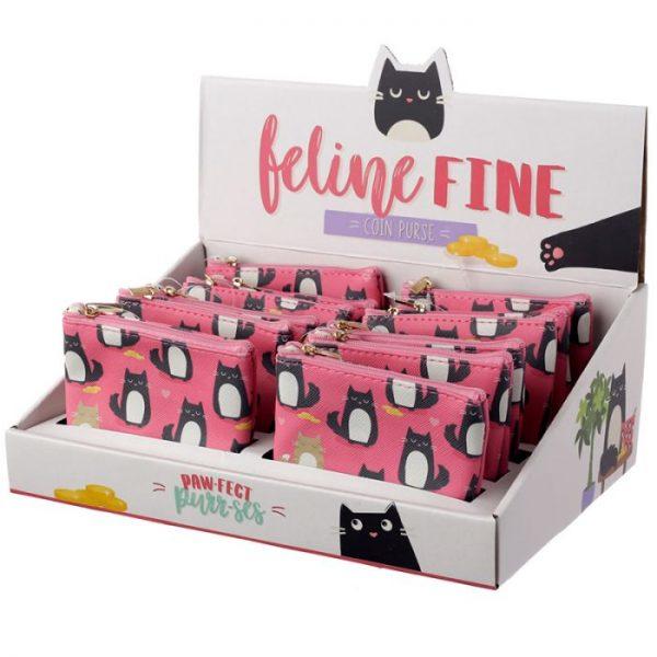 Peňaženka s mačičkami Feline Fine rúžová 2 - pre milovníkov mačiek