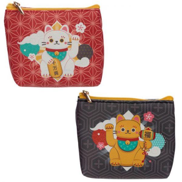 Maneki Neko - mačka šťastie PVC Peňaženka 1 - pre milovníkov mačiek