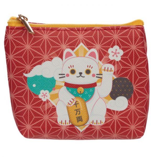 Maneki Neko - mačka šťastie PVC Peňaženka 2 - pre milovníkov mačiek