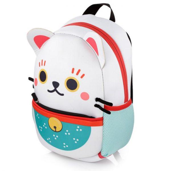 Maneki Neko - mačka šťastia neoprénový batoh 1 - pre milovníkov mačiek