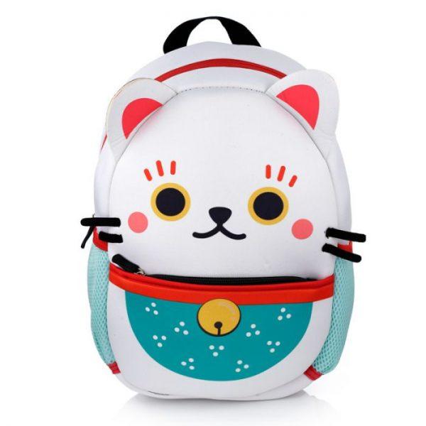Maneki Neko - mačka šťastia neoprénový batoh 7 - pre milovníkov mačiek