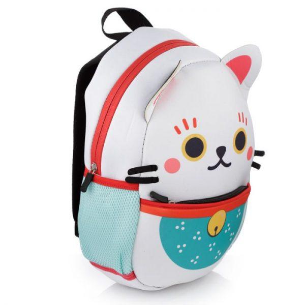 Maneki Neko - mačka šťastia neoprénový batoh 3 - pre milovníkov mačiek
