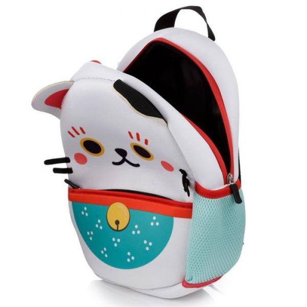 Maneki Neko - mačka šťastia neoprénový batoh 5 - pre milovníkov mačiek