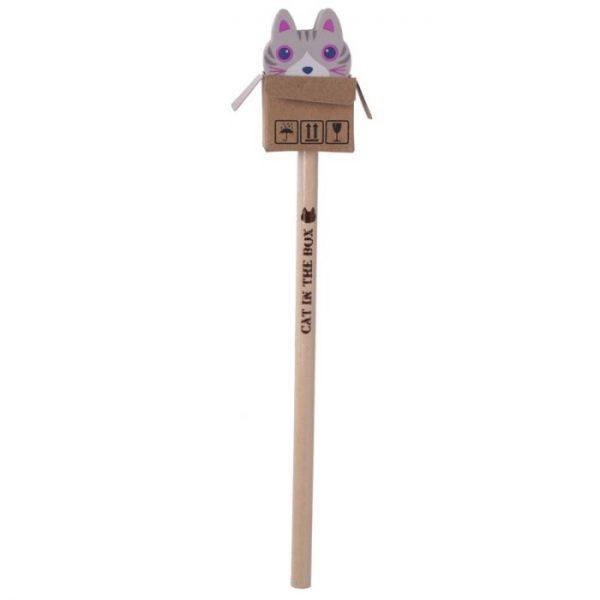 Mačka v krabici - ceruzka s gumou 6 - pre milovníkov mačiek