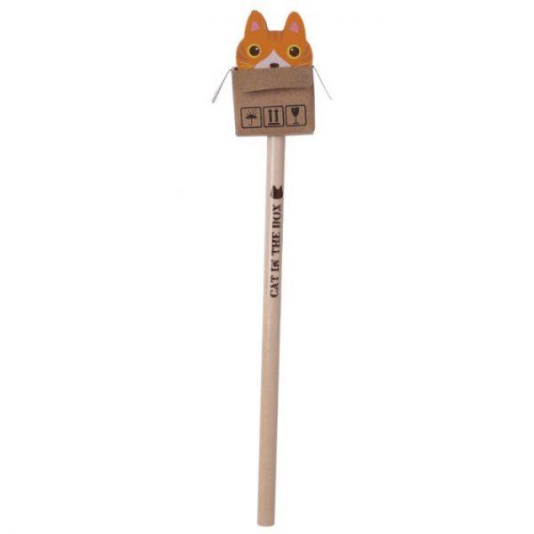 Mačka v krabici - ceruzka s gumou 5 - pre milovníkov mačiek
