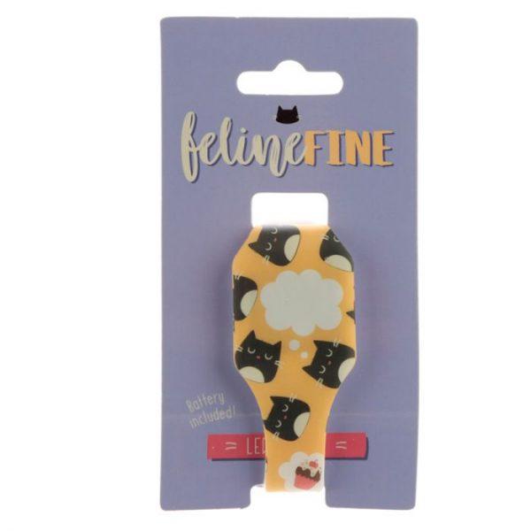 Žlté detské silikónové digitálne hodinky s motívom mačičky Feline Fine 6 - pre milovníkov mačiek