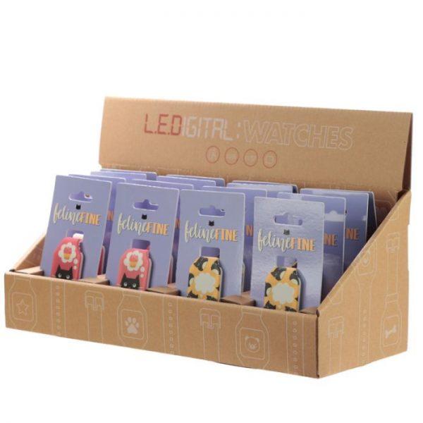 Žlté detské silikónové digitálne hodinky s motívom mačičky Feline Fine 5 - pre milovníkov mačiek