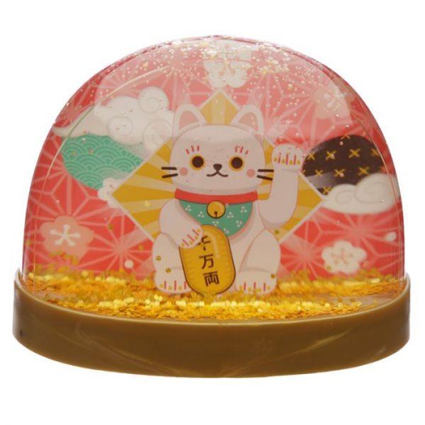 Snežítko s mačičkou pre šťastie Maneki Neko 1 - pre milovníkov mačiek