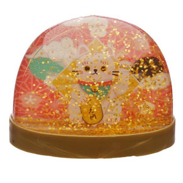 Snežítko s mačičkou pre šťastie Maneki Neko 3 - pre milovníkov mačiek