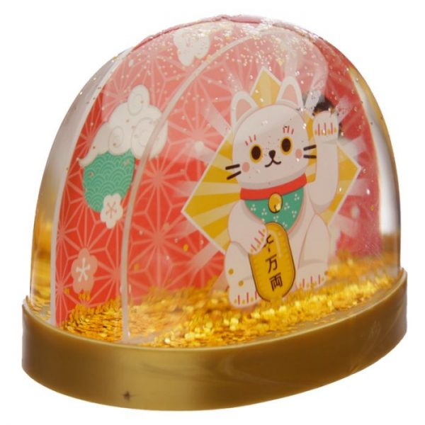 Snežítko s mačičkou pre šťastie Maneki Neko 4 - pre milovníkov mačiek