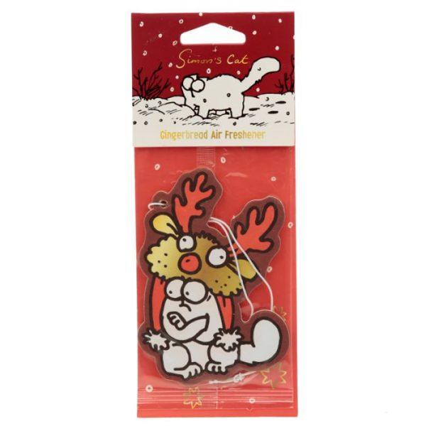 Gingerbread Vianočné Simon's Cat Reindeer Hat Osviežovač vzduchu 1 - pre milovníkov mačiek