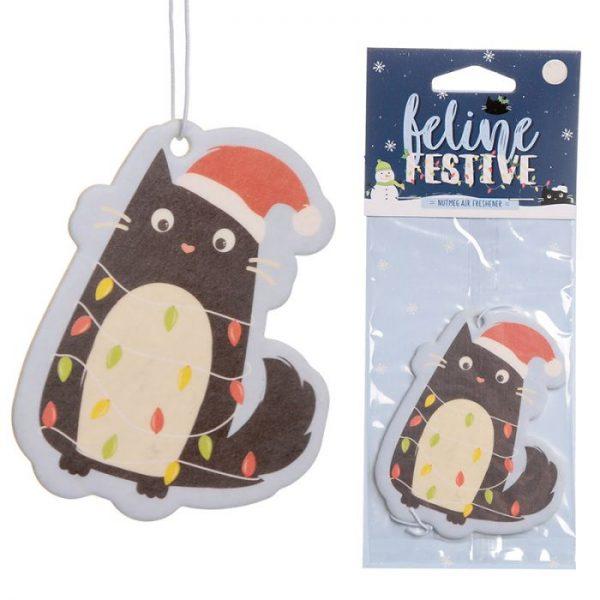 Festive Feline Lights Cat Nutmeg Osviežovač vzduchu 1 - pre milovníkov mačiek
